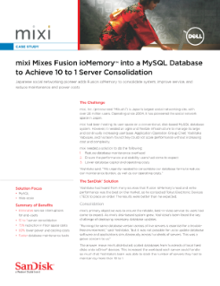 Mixi Mixes ioDrives into a MySQL Database to Achieve 10 to 1 Server Consolidation